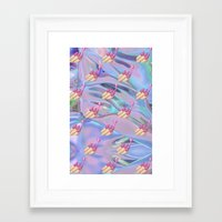 holographic Framed Art Prints featuring Nail Polish Emoji Holographic by Andy Paik