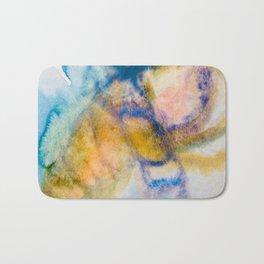 Blue Mood Watercolor Bath Mat
