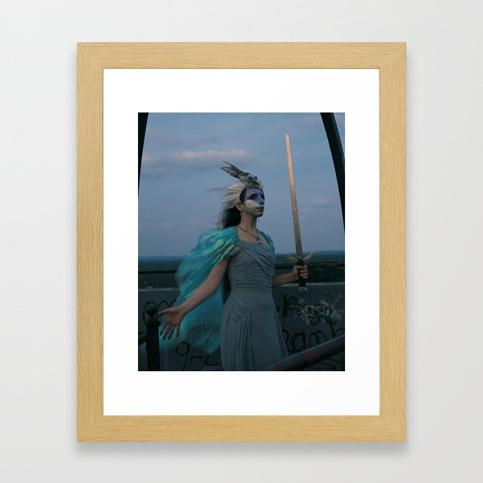 The Woman of Swords Framed Art Print
