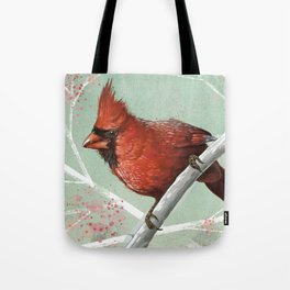 Northern Cardinal In Brilliant Red Tote Bag