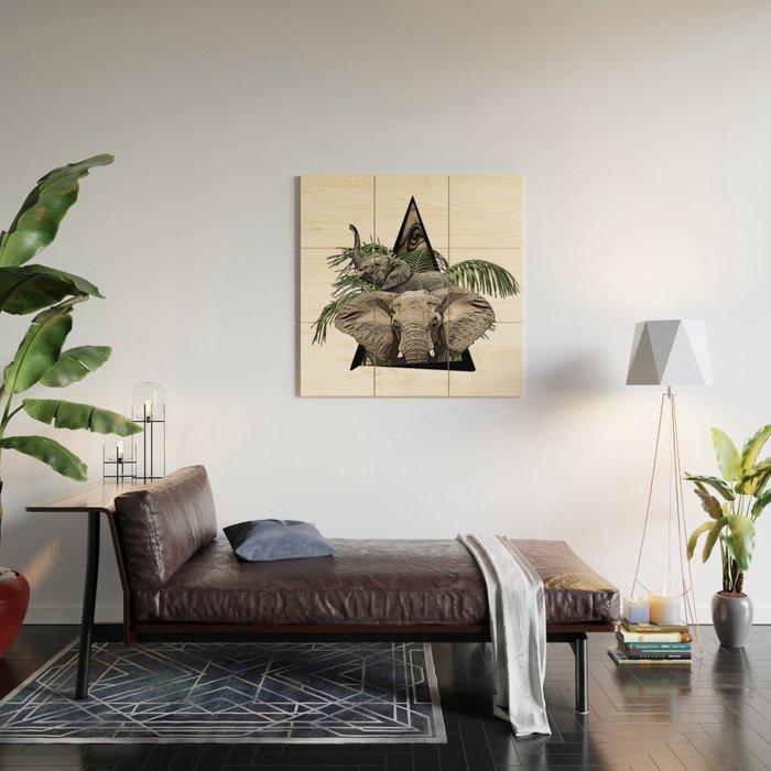 Elephant Jungle ArtWork Wood Wall Art
