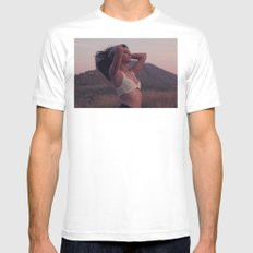 In the mountains MEDIUM White Mens Fitted Tee
