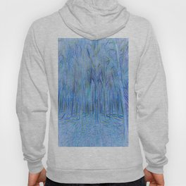 Blue Forest Abstract Art Hoody
