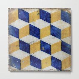 Portuguese tiles pattern Metal Print