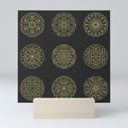 Mandala seamless pattern Mini Art Print