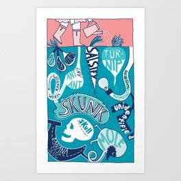 Garden Underground Art Print