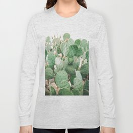 Cactus Flowers Pink And Green Desert Life Long Sleeve T-shirt
