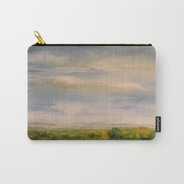Scenic Autumn Late Afternoon in Vermont Nature Art Landscape Oil Painting Carry-All Pouch
