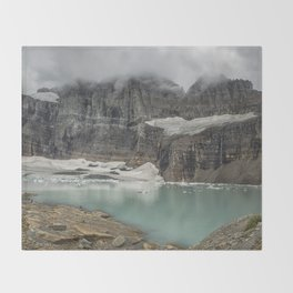 Grinnell and Salamander Glaciers, Soon Things of the Past Throw Blanket