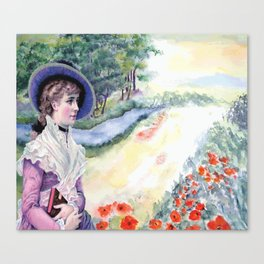 VINTAGE LADY Pop Art Canvas Print
