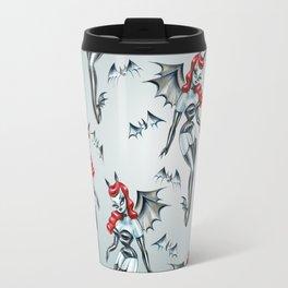 Vampire Bat Pinup Girl Travel Mug
