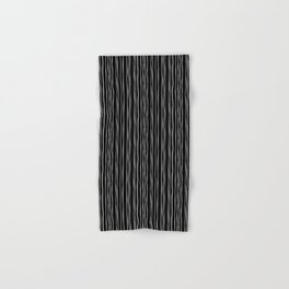 Wide Black Stripe Hand & Bath Towel