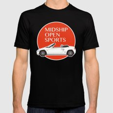 Midship Open Sports Black MEDIUM Mens Fitted Tee