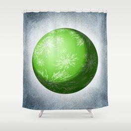 Green snowflake Sphere Shower Curtain