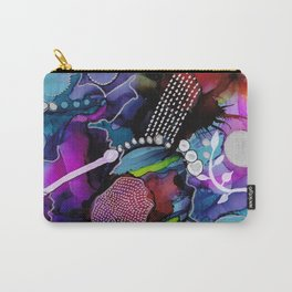 Dark Reef of Currant and Indigo Carry-All Pouch