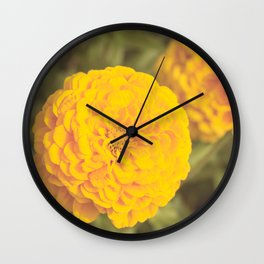 Field Flowers Wall Clock