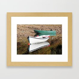 Boating for beginners Framed Art Print