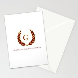 Daring, Nerve, and Chivalry Stationery Cards