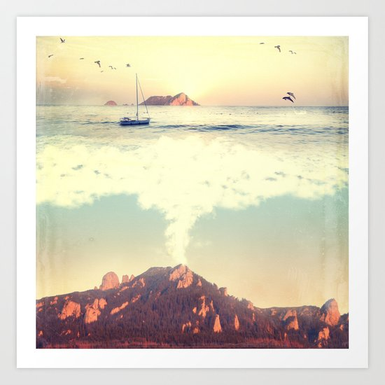 The Dreamy Mountain Art Print