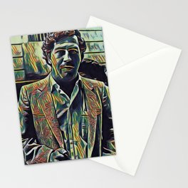 Pablo Escobar Artistic Illustration Picasso Style Stationery Cards