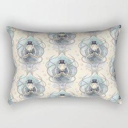 Victorian squid Damask pattern Rectangular Pillow
