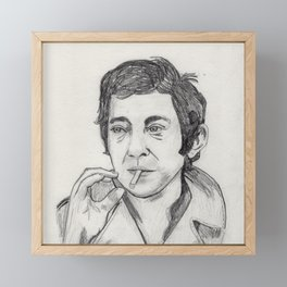 Serge Gainsbourg Framed Mini Art Print