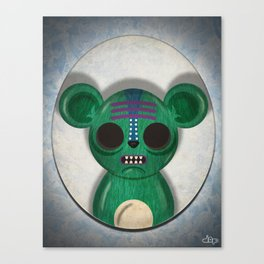 Green Bear Canvas Print