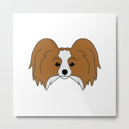 Papillon Dog #society6 #decor #buyart #artprint Metal Print