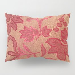 Gold and red floral Pillow Sham
