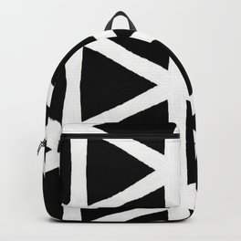 Modern Bold Black and White Triangle Pattern Backpack