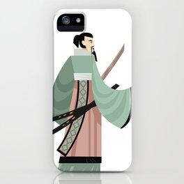 unarmored samurai with katana blades iPhone Case