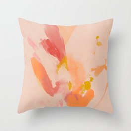 Abstract Peach Watercolor Throw Pillow
