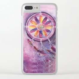 Dream Catcher Clear iPhone Case
