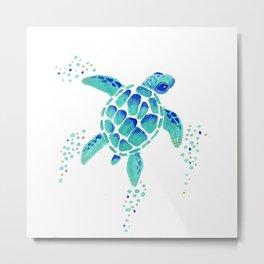 Neptune's Turtle Metal Print