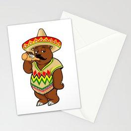 Drinking California Bear - Cinco De Mayo Stationery Cards