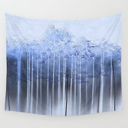 Shredded Abstract in Blue Wall Tapestry