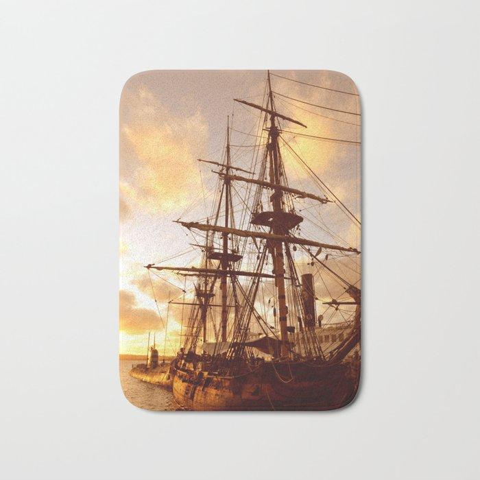 PIRATE SHIP :) Bath Mat