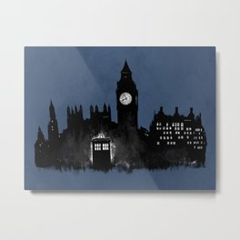 Police Box in London Metal Print