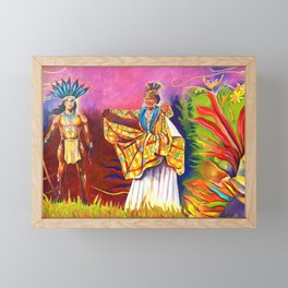 Kalinago and Creole Wear - Mural Framed Mini Art Print
