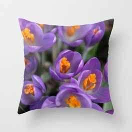 Bunch of Crocus Throw Pillow