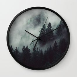 Rain in the forest Wall Clock