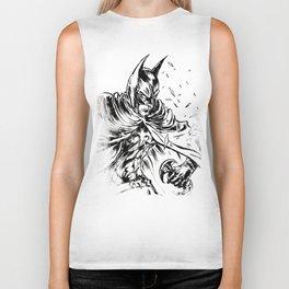 Bat man comics brush ink black white Biker Tank