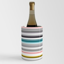 grey and colored stripes Wine Chiller