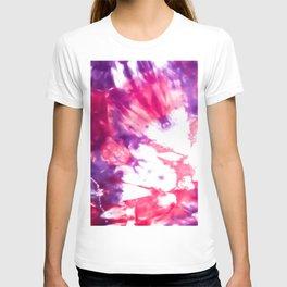 Modern Artsy Abstract Neon Pink Purple Tie Dye T-shirt