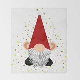 Santa - Gnome Throw Blanket