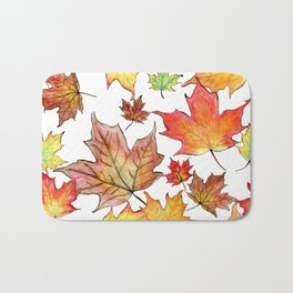 Autumn Maple Leaves Bath Mat