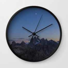 Dolomit sunset Wall Clock