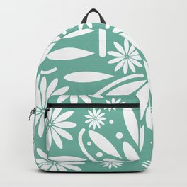 White floral Backpack