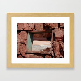 Faded Window Framed Art Print