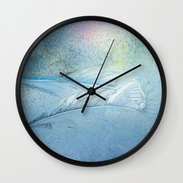 Frosty pattern (fragment) Wall Clock